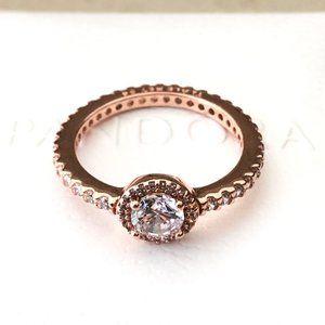 Pandora Rose Gold Classic Elegance Ring #180946CZ
